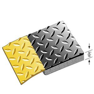 Economical Diamond Plate Yellow Border Industrial